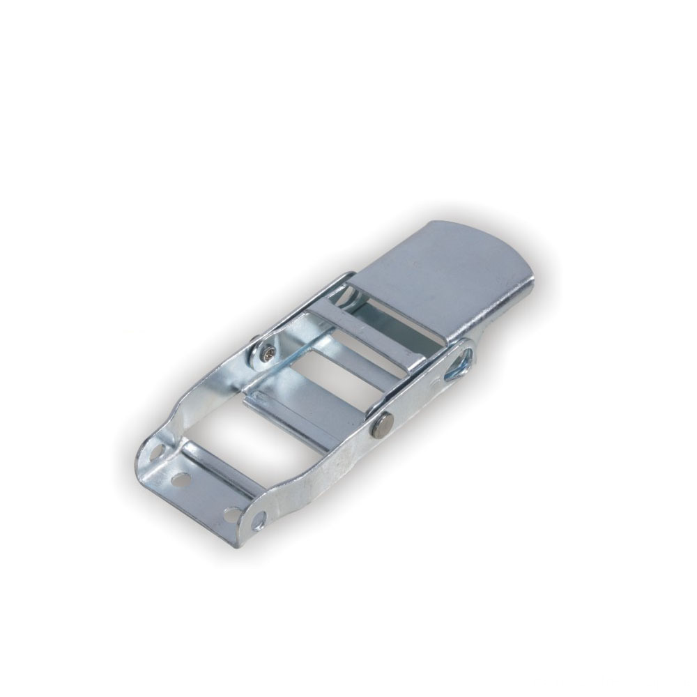 White Zinc Plated Over Center Buckle of 800kgs Strength