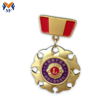 Decoration medal gold badge with diamond