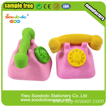 Old Pink Telephone Rubber Shaped Eraser stationery