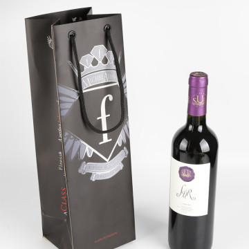 Customized Gift Paper Bag For Carrying Wine Bottles