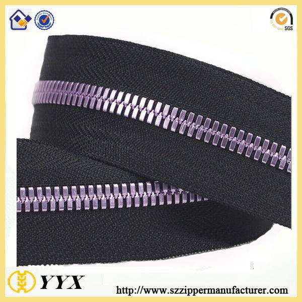 two ways metal zipper