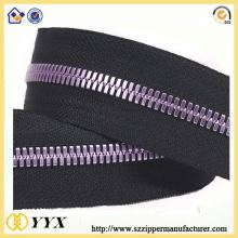 Custom special purple NO5 metal zipper