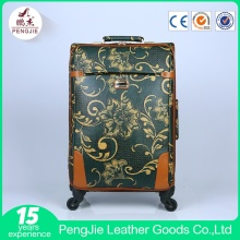 4 Wheels Smooth Soft Vintage Style Suitcase