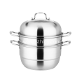 Two Layers Multipurposed Food Stainless Steel Steamer Pot