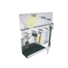 memo board with shelf with 5 key hook