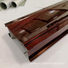China for Aluminium Wardrobe Doors Wooden Grain Aluminum Profiles for Sliding Wardrobe Door supply to Qatar Factories