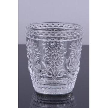 Handpressed Flower Water Glass Goblets Set of 3