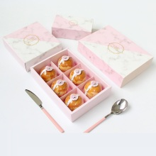 10 Years for Macaron Packaging Box Pink marble pattern paper box for food export to Gabon Factory