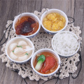 PVC Simulated Food Keychain Small Bowl Keyring For Phone