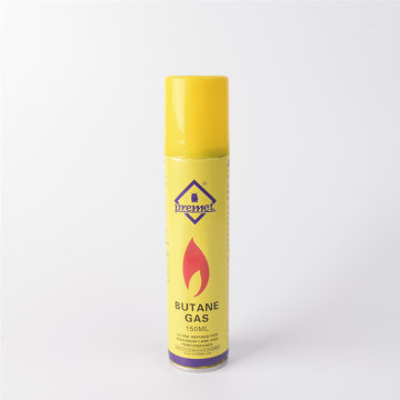 Butane refill fuel gas can cartridge