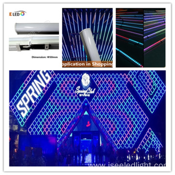 DMX RGB color digital tube outdoor facade lighting