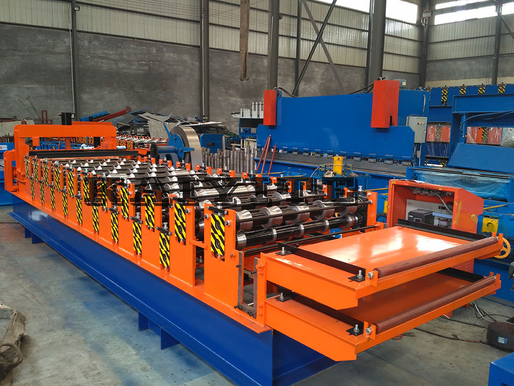 double roofing sheet roll forming machine