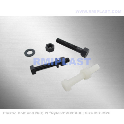 Plastic Bolt And Nut For Anti-corrosive Use