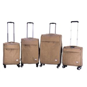 Desert color fabric trolley convenient wheel bags