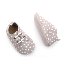 2018 White Dots Cute Baby Oxfords Shoes
