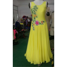 Yellow ballroom dresses girls