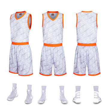 All sublimation basketball uniform with pocket