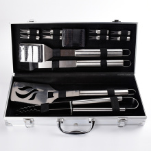 box with 11pcs stainless steel tools for bbq