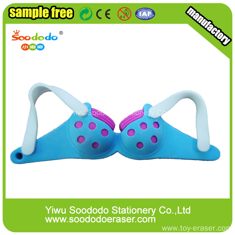 about fashion erasers bra shaped rubber erasers