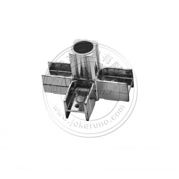 25mm square chrome tube fittings