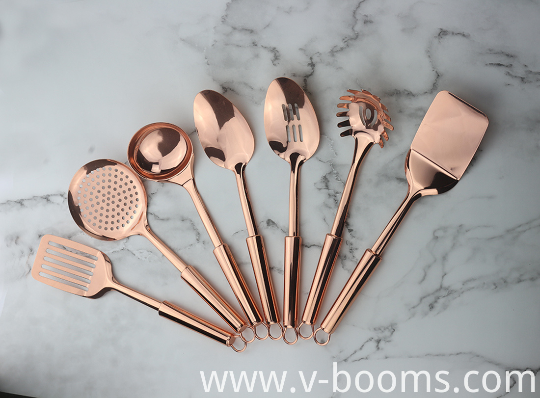 Copper Kitchen Utensils Set