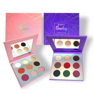 OEM multicolor eye shadow palette with mirror