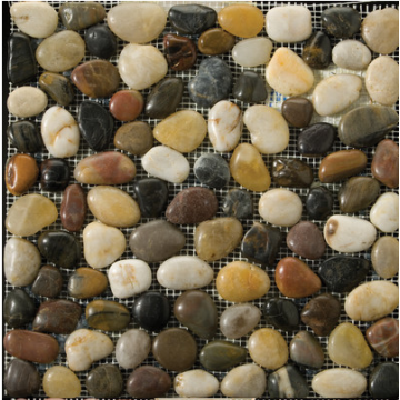Polished Natural Meshwork Stone pebble tile