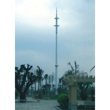 Manufactur standard for Telecommunication Tower Painted Telecommunication Steel Pole export to Martinique Supplier