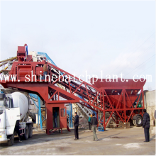Reliable for 75 Mobile Concrete Mix Plant 75 Portable Concrete Mix Machinery export to South Korea Factory