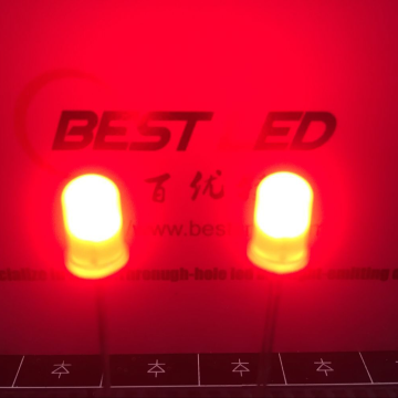 5mm Red Through-Hole LED 620nm 45 Degree
