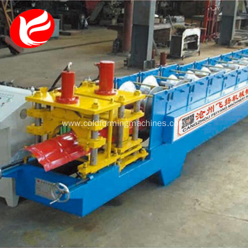 Metal Roof Ridge Cap line Roll Forming Machine