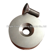 Neodymium Countersunk Magnets with Flat-head Screw