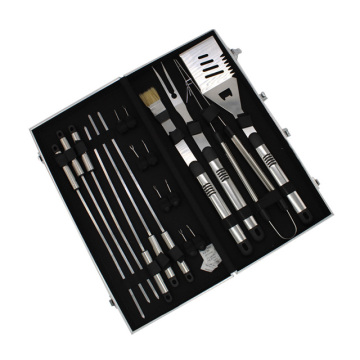 Stainless Steel 18 Piece BBQ Tools Set