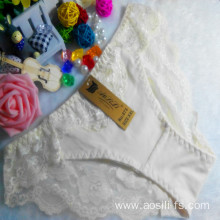 OEM wholesale cheap light yellow sexy comfortable lace cotton high level fancy underwear 873