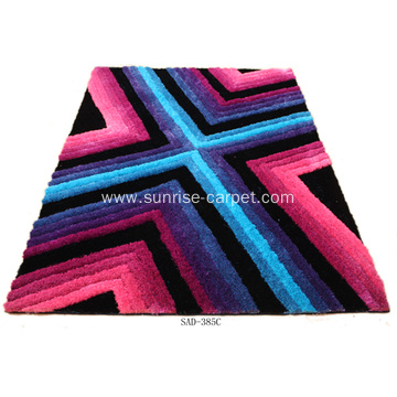 Polyester shaggy modern design carpet