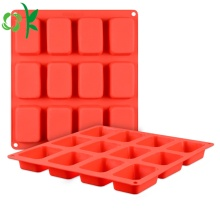 Silicone Soap 12 Cavity Rectangle Bar Soap Mold