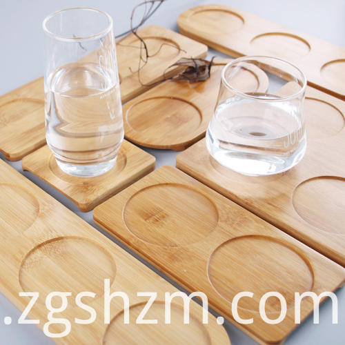 Eco Friendly Custom Size Bamboo Coaster