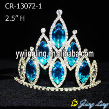 Blue Crystal Rhinestone Cheap Pageant Crowns