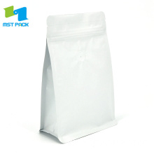 250g Matte White Coffee Bag with Valve