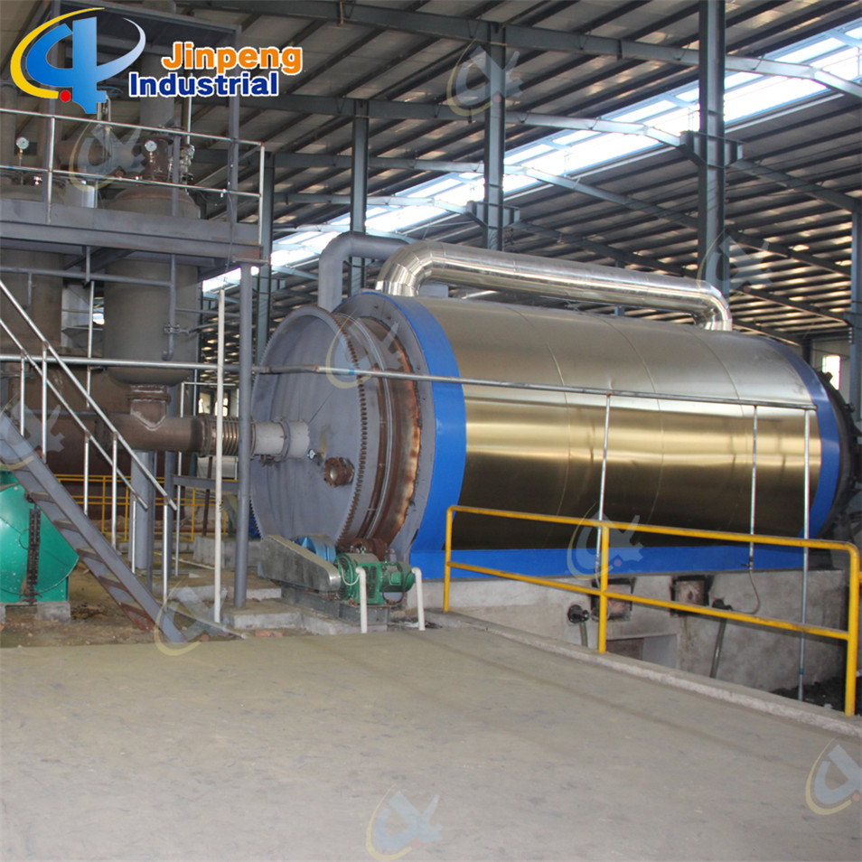 Scrap Tire Recycling to Pyrolysis Oil System