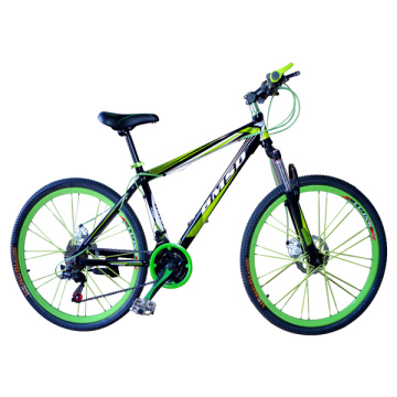 700C Green Folded Track bicycle