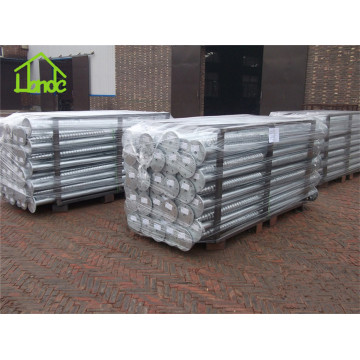 Galvanized mounting screw piles
