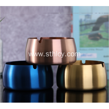 Creative Color-Plated Stainless Steel Ashtray