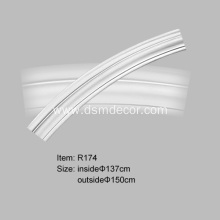 Lower Price PU Architectural Plain Curved Molding
