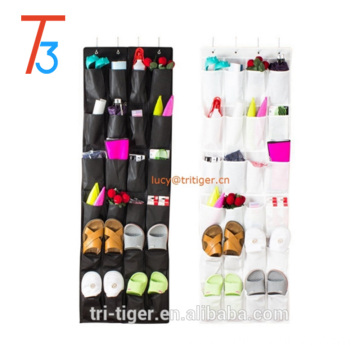 24 Pockets Fabric Over-the-Door Hanging Shoe Rack Shoe Organizer