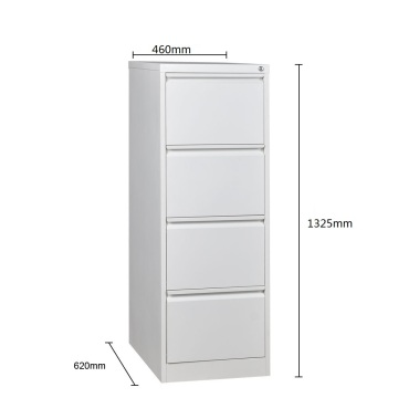 White 4 Drawer File Cabinet