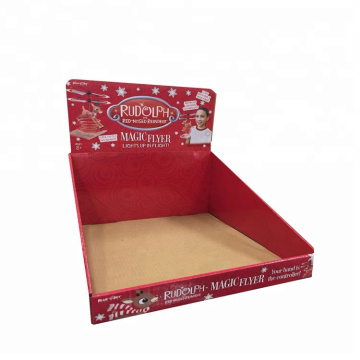 Supermarket Corrugated Paper Box Floor Display Rack