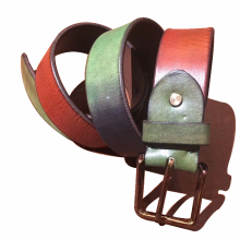 Vintage Men's Casual Bronze Pin Buckle Belt