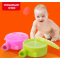 Three Compartment Milk Powder Storage Snack Container