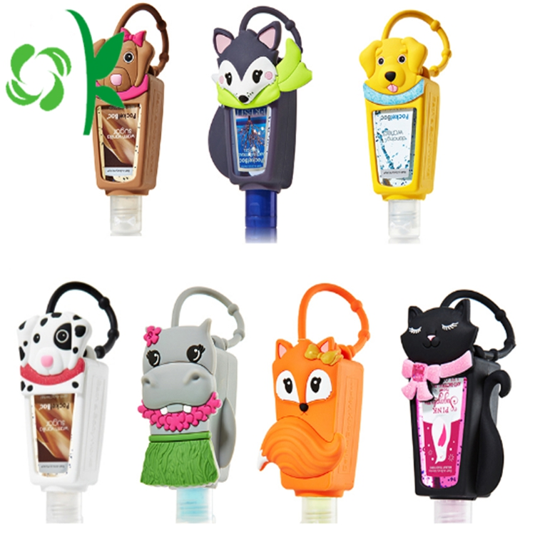Sanitizer Bottle With Hanging Silicon Holder